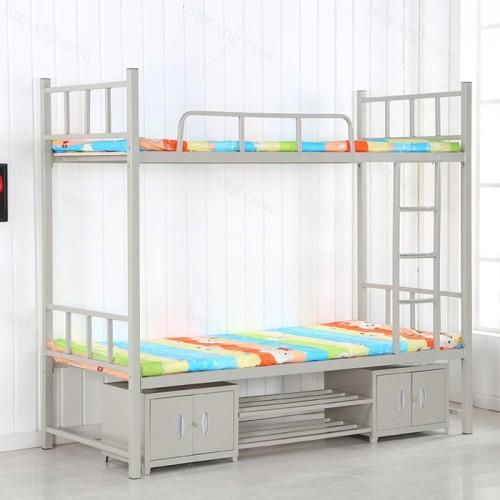 加厚型双层学生高低床带储物柜鞋架01