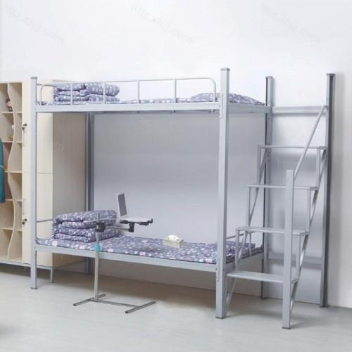 双层床高低床上下铺铁架床04