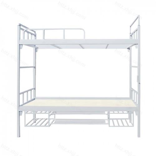 双层床高低床上下铺铁架床带鞋架盆架06