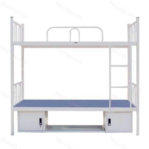 简易双层床高低床上下铺铁架床带盆架11