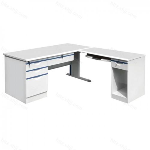 钢制办公桌电脑桌侧桌工作台写字桌03