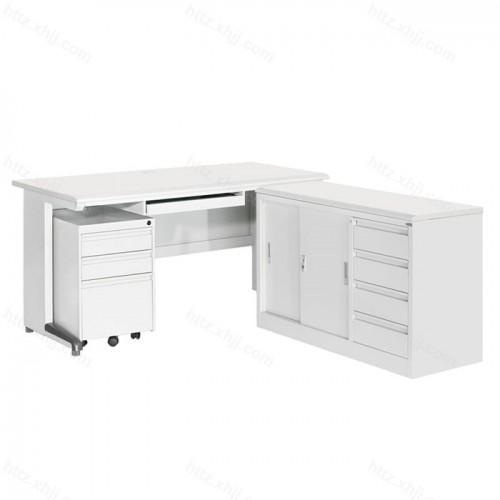 多功能钢制办公桌电脑桌L型桌04