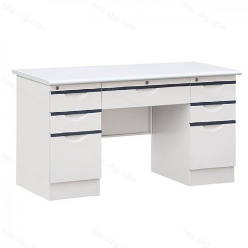 钢制办公桌电脑桌带锁带抽屉写字台10