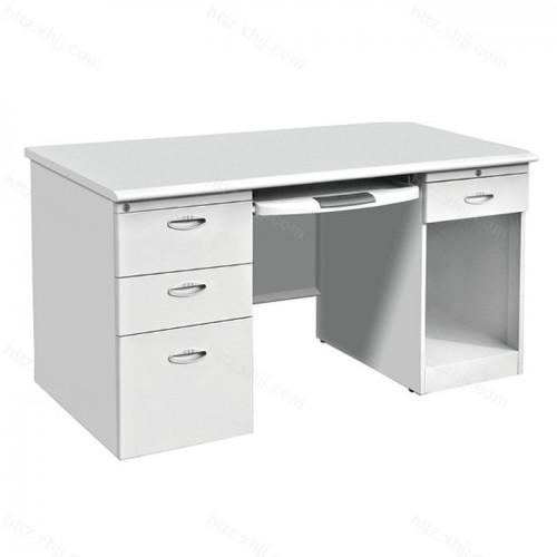 钢制办公桌电脑桌带锁带抽屉11