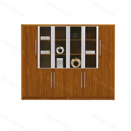 办公文件柜简约现代档案资料柜书柜带玻璃门组合24