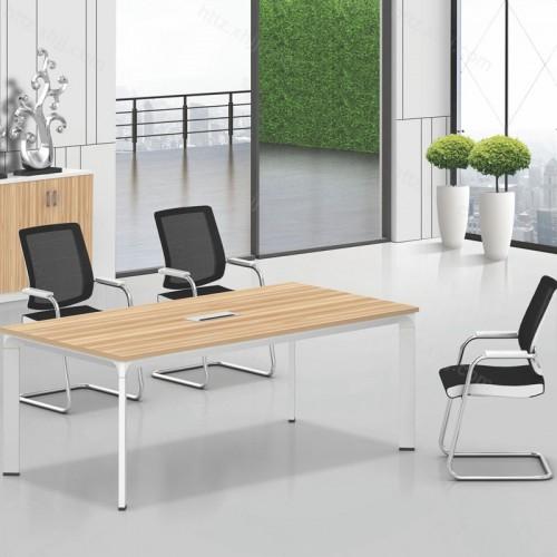 简约办公小型长方形会议桌10