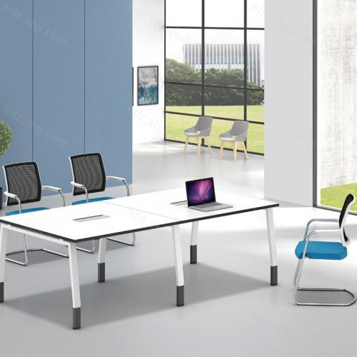 简约办公小型长方形会议桌培训桌12
