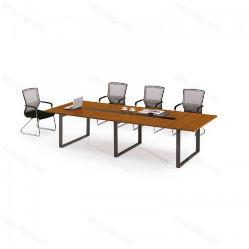 小型板式培训桌长方形办公桌长条钢架腿21