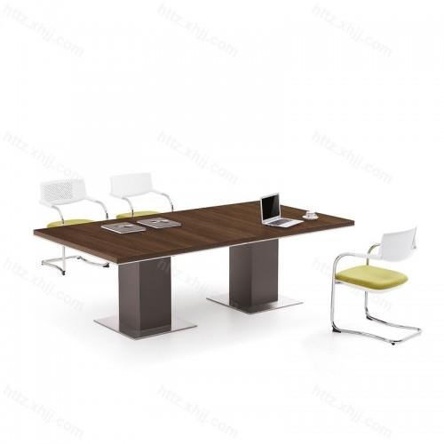 简约现代实木长条桌商务洽谈桌会议桌31