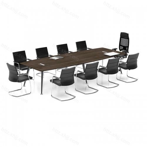 简约现代大型长条桌商务洽谈桌会议桌33
