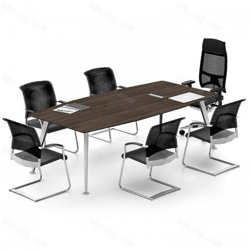 简约现代小型长条桌商务洽谈桌会议桌34