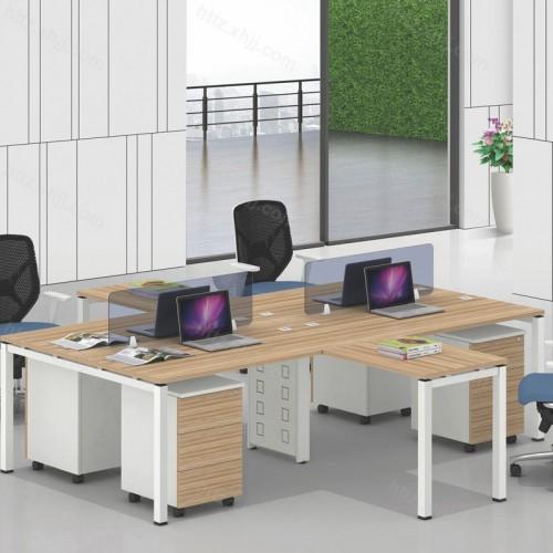 简约现代电脑桌椅员工屏风04