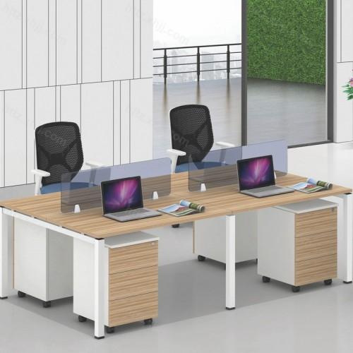 简约现代电脑桌椅员工屏风可移动储物柜05