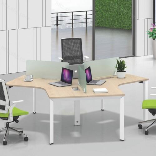 简约现代屏风工作办公桌06