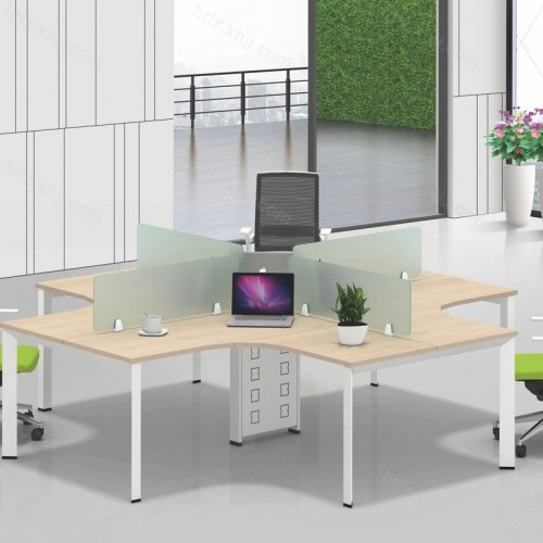 简约现代屏风工作办公桌07