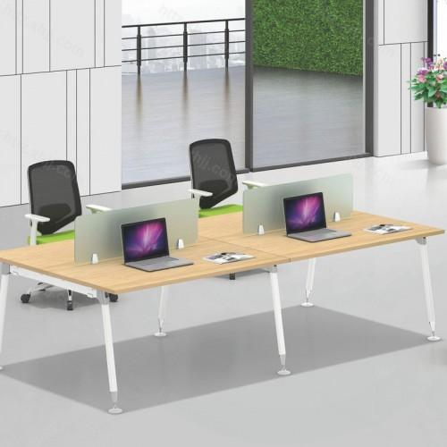 简约现代4人位屏风办公桌09