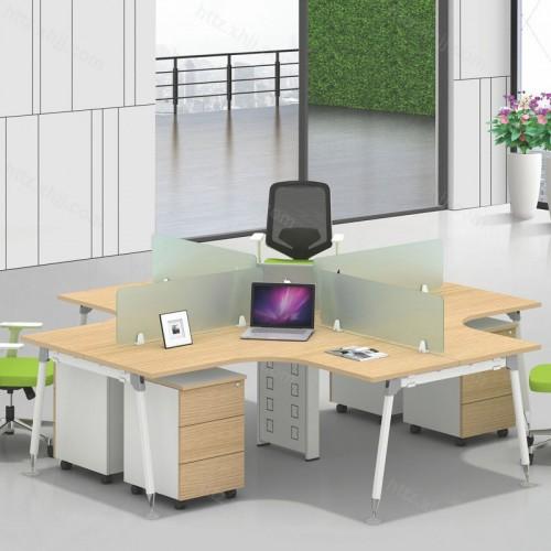 简约现代屏风办公桌10