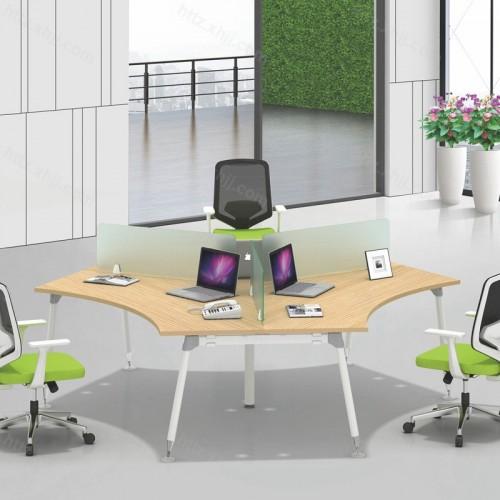 简约现代时尚屏风办公桌11