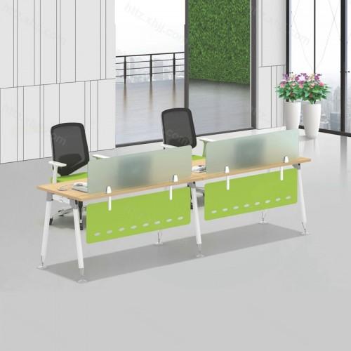 简约现代二人位屏风办公桌12
