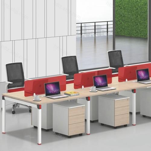 简约现代六人位屏风办公桌15