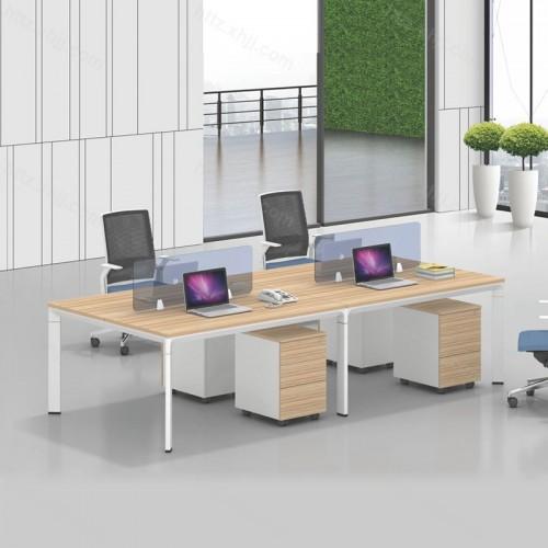 简约现代四人位屏风办公桌16