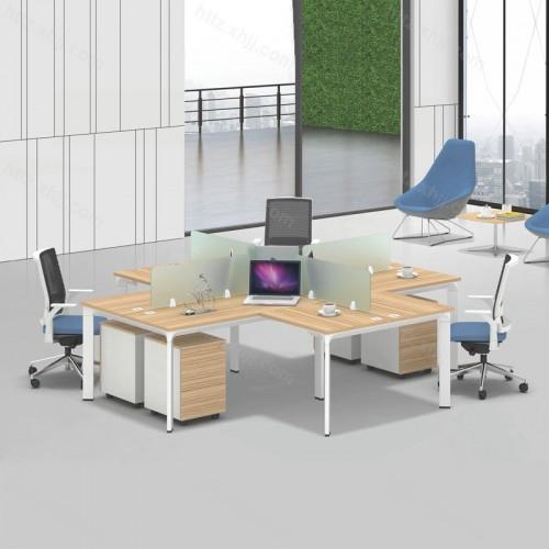 简约现代四人位屏风办公桌17