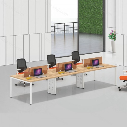 简约现代六人位屏风办公桌电脑桌21