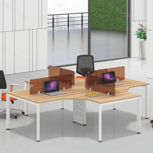 简约现代四人位屏风办公桌电脑桌22