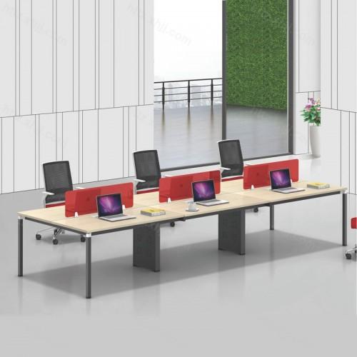 简约现代六人位屏风职员办公桌26