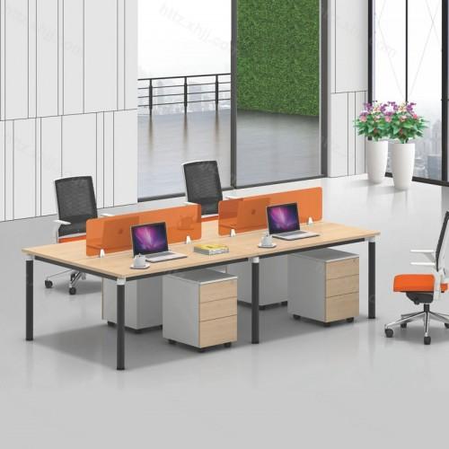 简约现代四人位屏风办公桌28