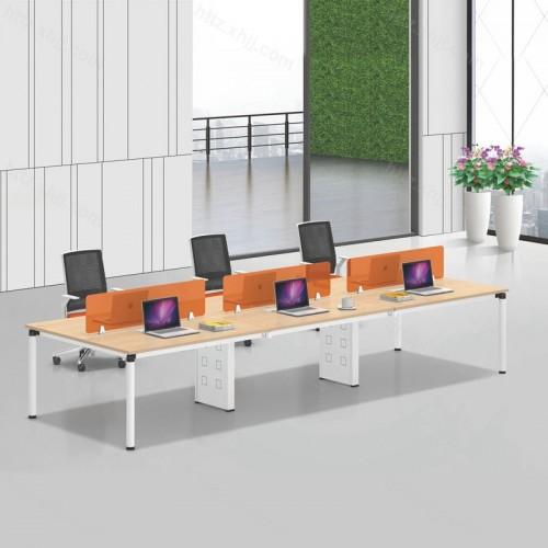 简约现代六人位屏风办公桌29