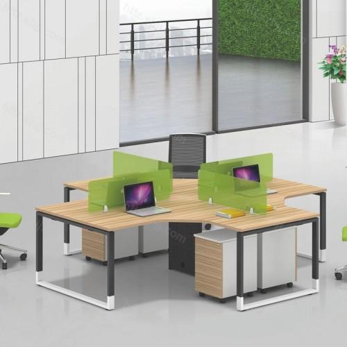 职员屏风办公桌电脑桌带移动储物柜33