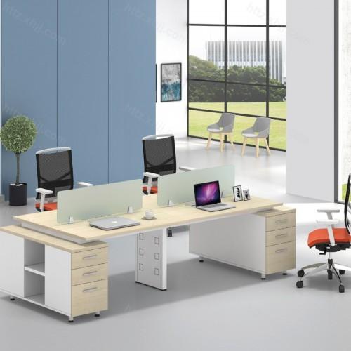 办公家具屏风办公桌带屉柜40