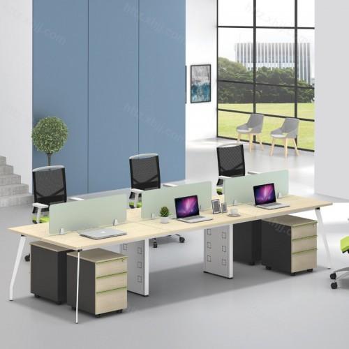 简约现代屏风隔断多人位办公桌43