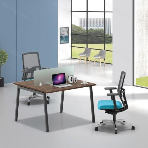 简约现代屏风隔断两人位办公桌44
