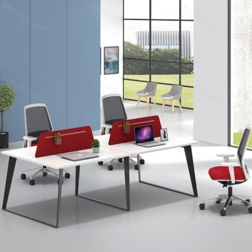 简约现代屏风隔断四人位办公桌48