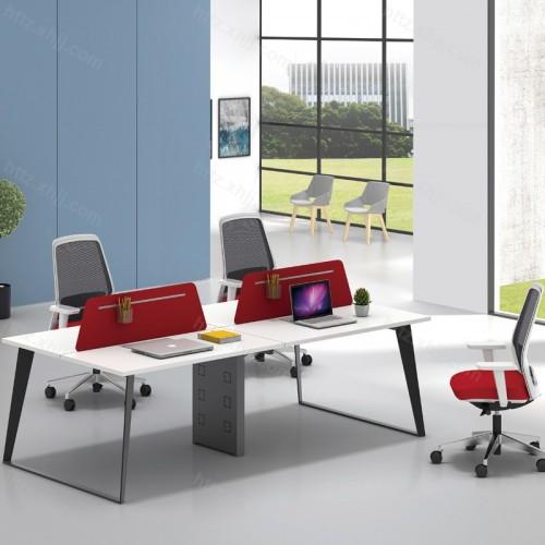 简约现代屏风隔断四人位办公桌49
