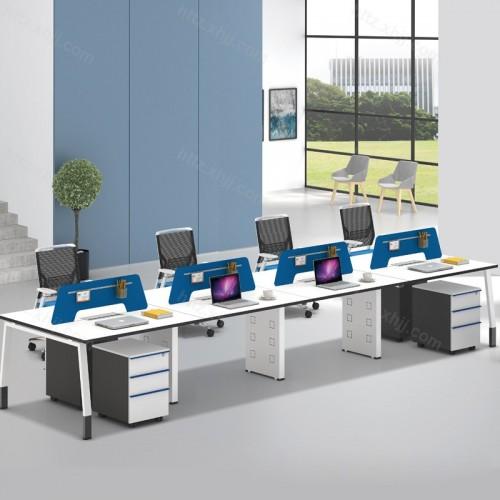 简约现代职员屏风多人位办公桌57