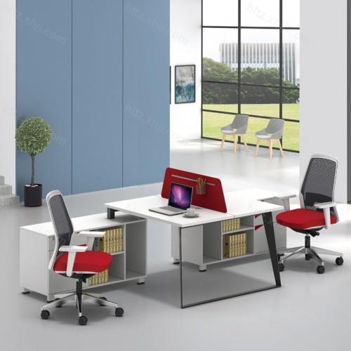 简洁现代屏风职员办公桌带储物柜35