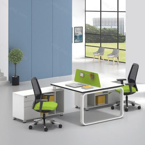 简洁现代屏风办公桌40