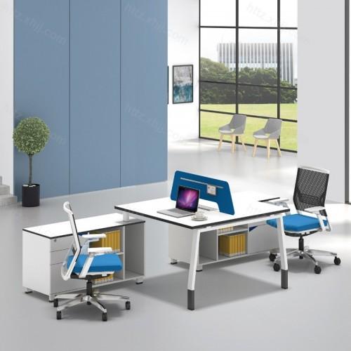 简洁现代屏风办公桌43