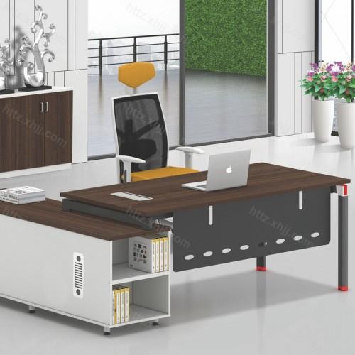 简约现代总经理主管领导单人办公桌12