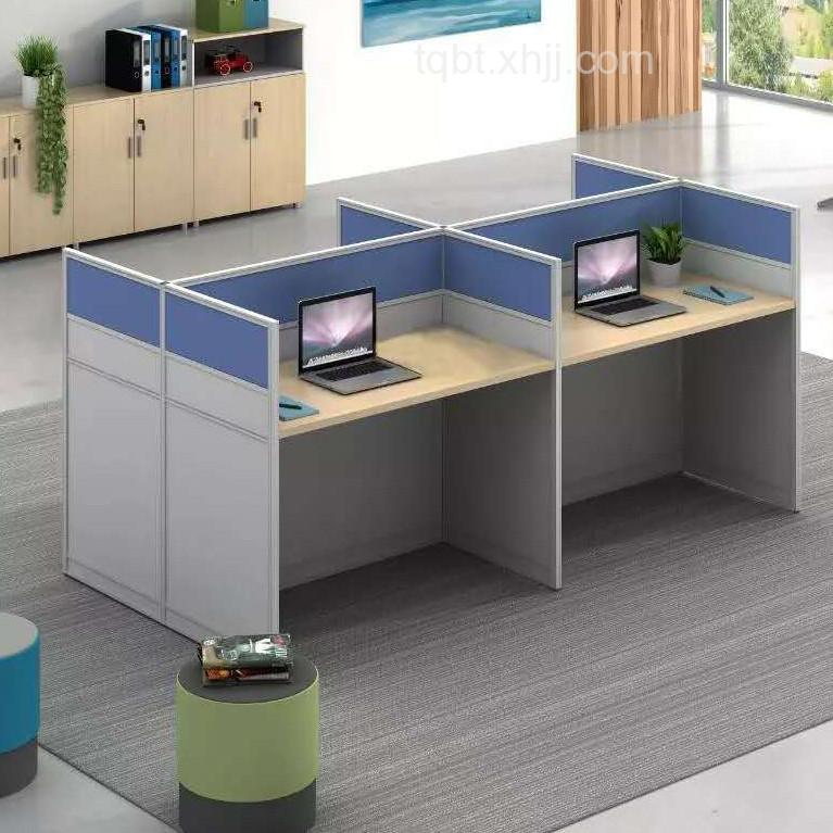 定制职员办工办公桌单人桌2人4人6人电脑桌写字台工作位员工桌椅