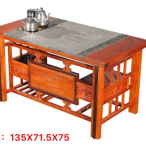 传承古代茶台 实木茶台茶桌椅 花梨木茶台茶桌椅 新中式茶台茶桌椅组合_IMG_2977