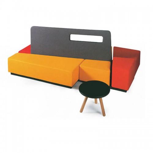 现代简约办公沙发创意休闲布艺沙发01