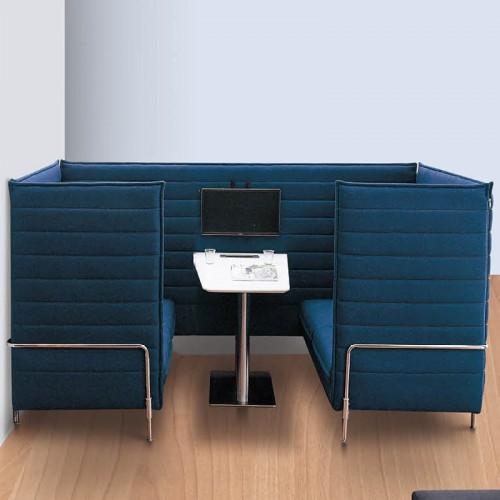 简约创意办公室洽谈沙发休闲沙发10