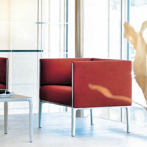 简约现代不锈钢腿办公接待休闲沙发28