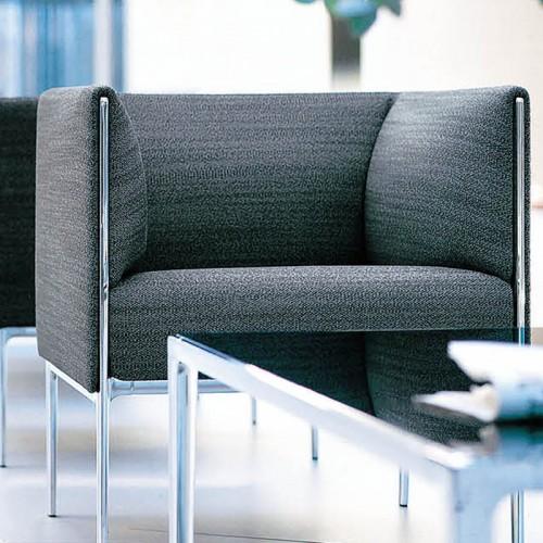 简约现代不锈钢腿单人办公接待休闲沙发29