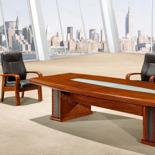实木油漆简约办公会议桌培训桌CK 3201