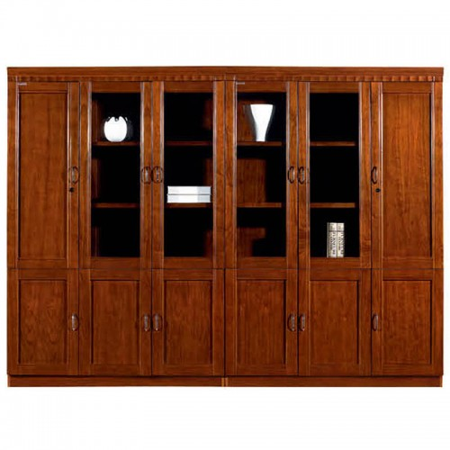 实木文件柜组合办公书柜带玻璃门CY3006-2